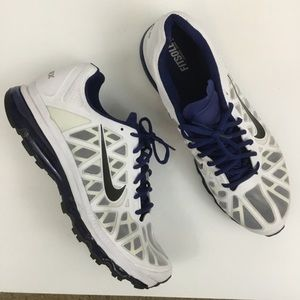 Nike Air Max White Blue Athletic Sneakers Men's 14